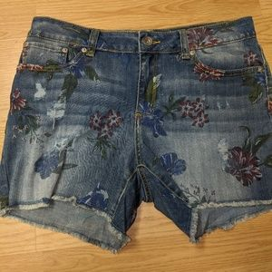 Time and Tru Jean Shorts